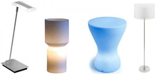 настольные и напольные лампы